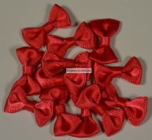 20 pcs CORAL RED Bow (22mm) Satin Ribbon Bow